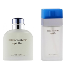 Çiftlere Özel Dolce Gabbana Set ( Light Blue Erkek - Light Blue Bayan )